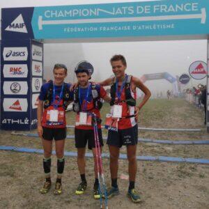 Podium hommes Championnats de France de Trail long 2019