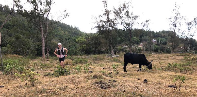 Trail de Rodrigues 2019 - passage à sentier tuyau - Fred Bousseau