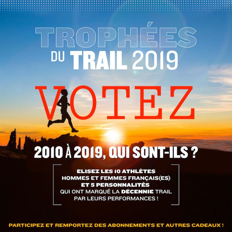 VOTEZ POUR LES TROPHÉES DU TRAIL 2019 - 10 ans de sport !