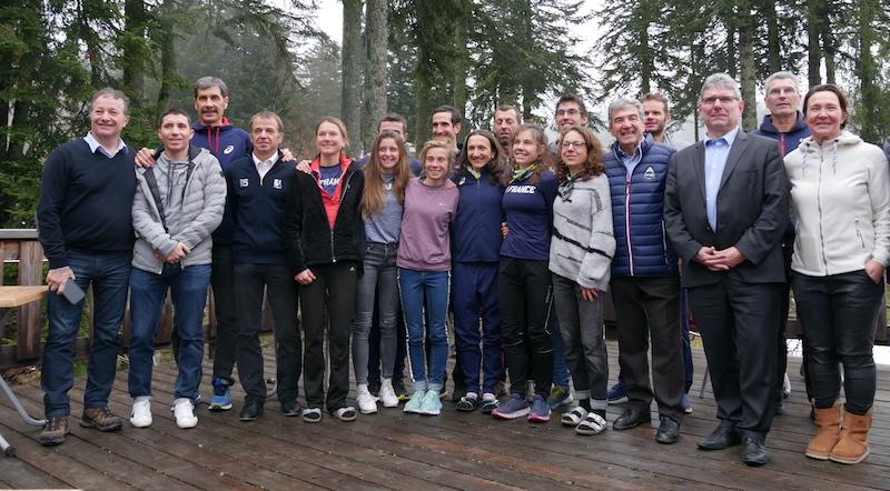 Equipe de France en stage dans le Cantal