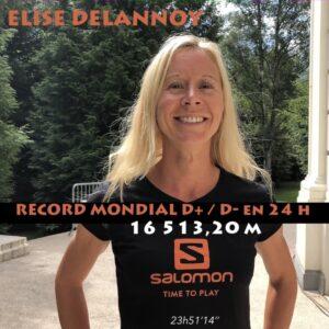 Record Mondial de D+:D- en 24h pour Elise Delannoy
