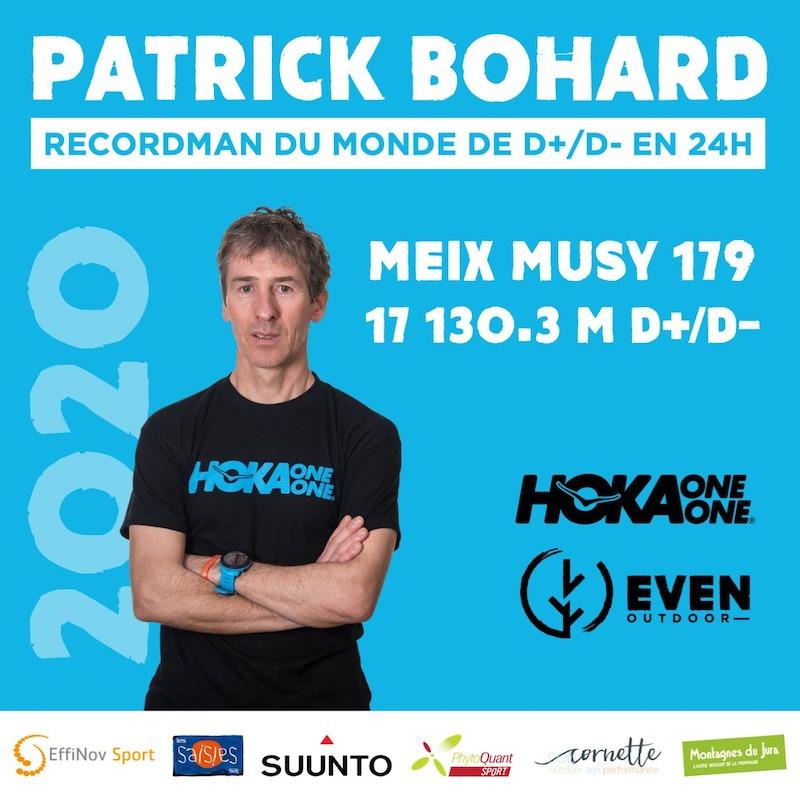 Record du monde de D+ : D- en 24h pour P. Bohard