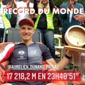 Record du monde de dénivelé par Aurelien Dunand Pallaz