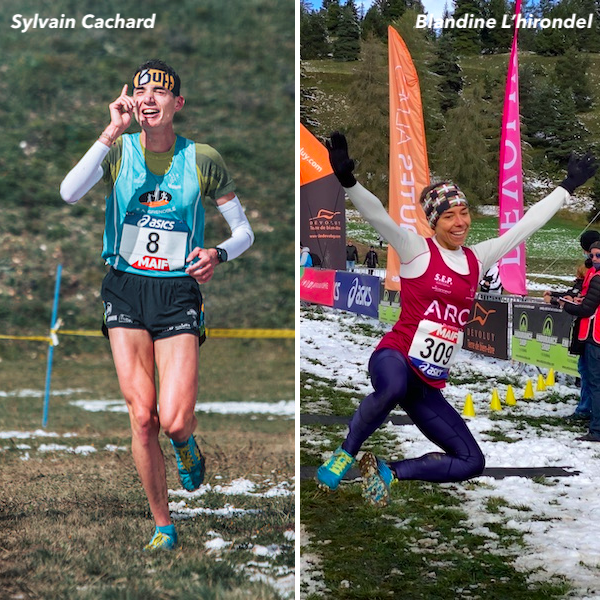 S. Cachard et B. L'Hirondel, Champions de France 2020