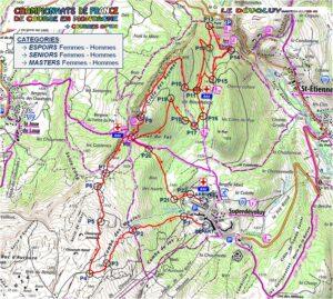 parcours Championnat de France de course en montagne 2020